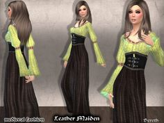 Bereth's Medieval Dress Leather Maiden