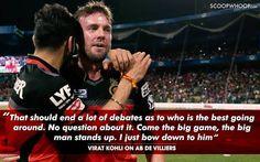 ❤💙 Ab De Villiers, Virat Kohli, Big Men, Stand Up, Cricket, Legends, Abs, King, Dreams