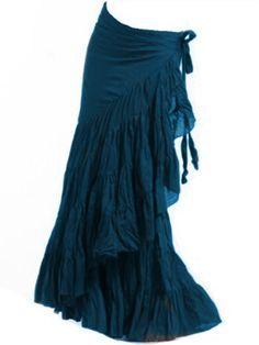Teal petrol - FLAMENCO SKIRT, wrap Skirt, GYPSIE skirt on Etsy, £39.99 - for sunset summer                                                                                                                                                                                 More