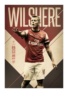 #WILSHERE @UEFAcom @Get Real Premier UEFA CHAMPIONS LEAGUE: 15 TO WATCH by Andy Greaves, via Behance