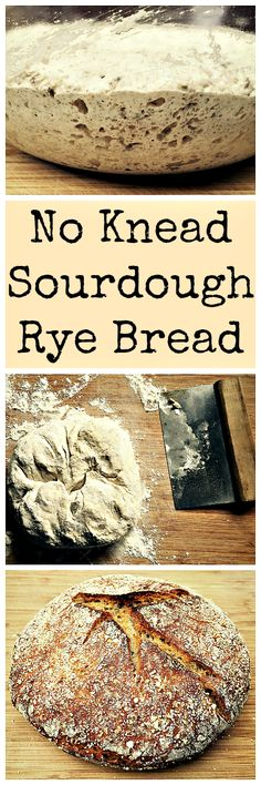 An easy to make sourdough rye bread recipe, no kneading required! The perfect bread for a Reuben sandwich.