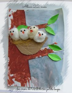 + que 4 dans le nid d'alban – Handwerk und Basteln Bird Crafts, Easter Crafts, Diy And Crafts, Arts And Crafts, Unicorn Crafts, Stick Crafts, Resin Crafts, Projects For Kids, Diy For Kids