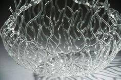 Glass Jellyfish Detail - Emily Williams Glass Sculpture
