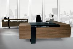 contemporary ceo office furniture | Executive desk / contemporary / in wood FLAT SOLENNE OFFICE FURNITURE