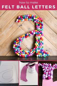 How to Make Decorative Letters for Your Walls Decorative letters are a great way to completely customize a space in your home with a unique touch! Diy Crafts For Adults, Diy Crafts To Sell, Fun Crafts, Homemade Wall Decorations, Diy Wall Decor, Room Decorations, Dorm Room Crafts, Home Crafts, Dorm Rooms