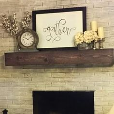 Shop a great selection of Fireplace Shelf Mantel Midwood Designs. Find new offer and Similar products for Fireplace Shelf Mantel Midwood Designs. Farmhouse Fireplace Mantels, Fireplace Shelves, Rustic Fireplaces, Fireplace Inserts, Wood Fireplace, Fireplace Surrounds, Wood Mantel Shelf, Rustic Mantle, Basement Fireplace