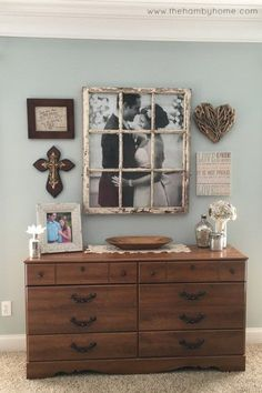 some good ideas for a rustic styled home. more importantly, use a vintage window to frame a picture! great idea!