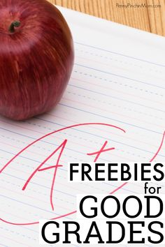 A great resource for teachers and homeschooling parents -- list of freebies for good grades!  Free food and more for kids, middle school, high school and even college students with good grades.  #freebies #goodgradefreebies #education #parenting