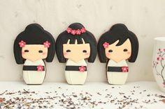 Galletas de muñecas japonesas