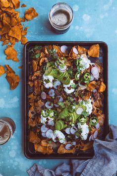Sweet Potato Nachos | HonestlyYUM