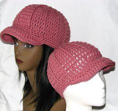 365 Crochet: Newsboy Beanie Hat Free Crochet Pattern