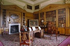 The Library at Nostell Priory in Wakefield, West Yorkshire, England