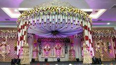Weddings Discover 28 New Ideas For Wedding Venues Garden Reception Ideas Wedding Hall Decorations, Marriage Decoration, Backdrop Decorations, Backdrops, Arch Decoration, Wedding Stage Design, Wedding Designs, Wedding Mandap, Telugu Wedding