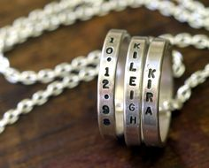 Personalized mommy necklace by Monkeys Always Look