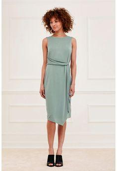 Coolio Cupro Drape Dress