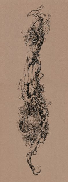 awesome image - plant spirit - The Tree of Knowledge by Socar Myles on DeviantArt