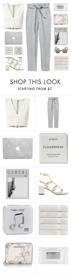 """ The fire´s gonna burn. "" by centurythe ❤ liked on Polyvore featuring Alice + Olivia, Byredo, Sonia Rykiel, Valentino, Happy Plugs, Christy, Rebecca Minkoff and Stila"