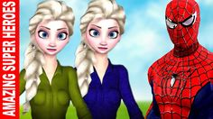 Ultimate Spiderman Finger Family Nursery Rhymes | Colors Frozen Elsa Son...
