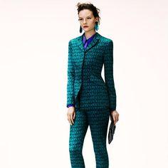 Swedish model Sara Blomqvist sports H apparel for the winter 2012 look book.