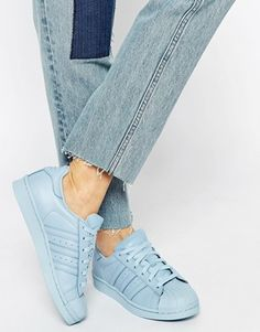 Adidas Originals Pharrell Williams supercolour Sky Blue Trainers