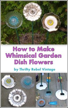 How to make garden plate flowers / thriftyrebelvintage.com