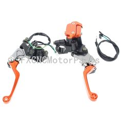 """52.89$  Know more  - """"7/8"""""""" Motorcycle Brake Levers Master Cylinder Reservoir Clutch Handle For KTM 525SX/SX-R/XC/XC-W FREERIDE 250R 50-550cc Orange"""""""