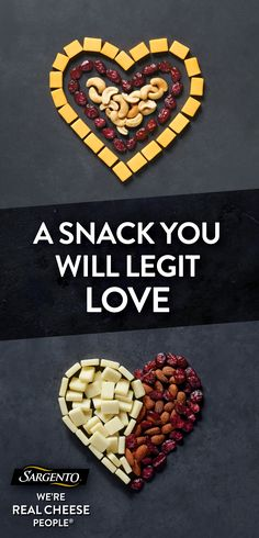 It's pretty easy to fall in love with our Balanced Breaks® snacks. Each mix contains creamy natural cheeses that are paired with roasted nuts and dried fruits in an all-in-one pack. Yup, definitely love at first bite. Look for Balanced Breaks® Snacks in the dairy case nearest you.
