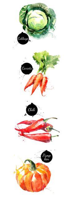 20 Watercolor Vegetables Vector  -  https://www.designcuts.com/product/20-watercolor-vegetables-vector/