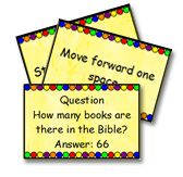 Bible games - haven't looked at it all for Scriptural information, but some good ideas for class!