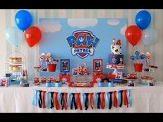 Paw Patrol Birthday Party via Little Wish Parties childrens party blog - YouTube