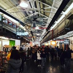 So a cool place we happened upon - the Chelsea Market. @theaspiringarch