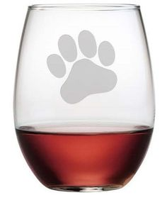 Whether you are a dog lover or a cat lover, these Paw Print stemless wine glasses are the perfect gift for the pet lover in your life.