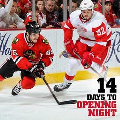 14 days left, plus a game tonight to get the preseason rolling. It's a good day to be a #Blackhawks fan!