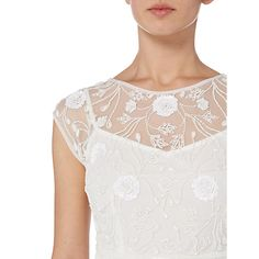 Buy Raishma Net Embellished Gown, White Online at johnlewis.com
