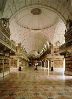 The library at Mafra Palace. Portugal.