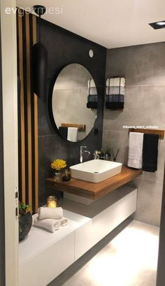 22 small bathroom design ideas that mix functionality and style - latest decor Modern Bathroom Decor, Bathroom Interior, Small Bathroom, Modern Decor, Dream Bathrooms, Master Bathroom, Design Your Home, Modern Luxury, Decorating Your Home