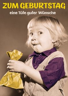 Eine Tüte guter Wünsche   Happy Birthday   Echte Postkarten online versenden   Gutsch Verlag