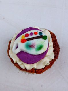 cupcake raiponce peinture / rapunzel painting