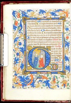 Book of Hours, MS M.1078 fol. 13v - Images from Medieval and Renaissance Manuscripts - The Morgan Library & Museum