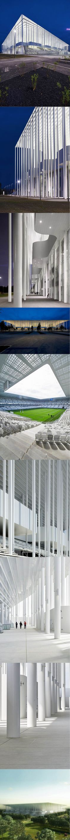 2013-2015 Herzog & de Meuron - Stadium Bordeaux / white / steel / concrete / Suisse / France