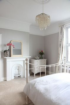 Lowcost ways to add period features back into your home is part of Victorian bedroom - Put these period features back in to your home to add value without spending a fortune! Bedroom Styles, Bedroom Colors, Bedroom Designs, Home Bedroom, Master Bedroom, Modern Bedroom, Contemporary Bedroom, Soft Grey Bedroom, Calm Bedroom