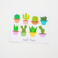 Planner stickers: plants | Perfect for your filofax / erin condren planner etc