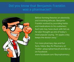 Did You Know That Benjamin Franklin Was A Pharmacist? #pharmacist #BayRXPharmacy