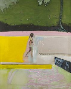 artnet Galleries: Figure by a Pool by Peter Doig from Michael Werner Gallery