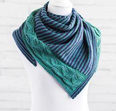 Leaf Press Shawl Knitting Kit by Judy Marples Featuring Cloudborn Highland Sport Yarn | Craftsy | Craftsy
