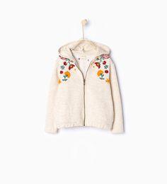 Image 1 of Embroidered sweatshirt from Zara