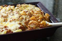 Ziti Casserole With Ground Beef and Mushrooms