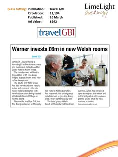 Warner's Welsh Rooms - Travel GBI - 26th March 2015