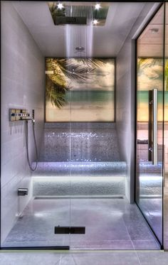 Steam Bath by VSB Wellness - Stoombad gemaakt door VSB Wellness bathroom Master Bathroom Shower, Bathroom Red, Dream Bathrooms, Bathroom Layout, Bathroom Ideas, Bathroom Organization, Small Bathroom, Spa Shower, Vanity Bathroom