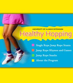 Jumping rope is fun and good for you, too! Learn nine different single rope stunts along with jump rope rhymes and games. Elementary Physical Education, Elementary Pe, Childhood Education, Recess Games, Pe Games, Pe Activities, Fitness Activities, Pe Lesson Plans, Healthy Schools